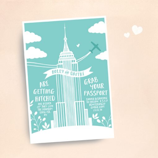 travel themed wedding invitations